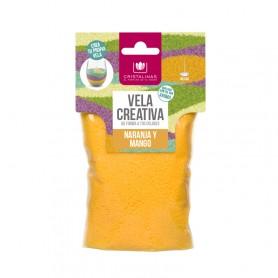 Vela Creativa Rec. 175g Naranja y Mango
